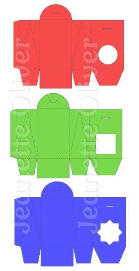 Set of 3 Gusseted Window Boxes SVG DIGITAL Cutting File by