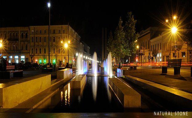 Matei Corvin square, Cluj-Napoca, Romania