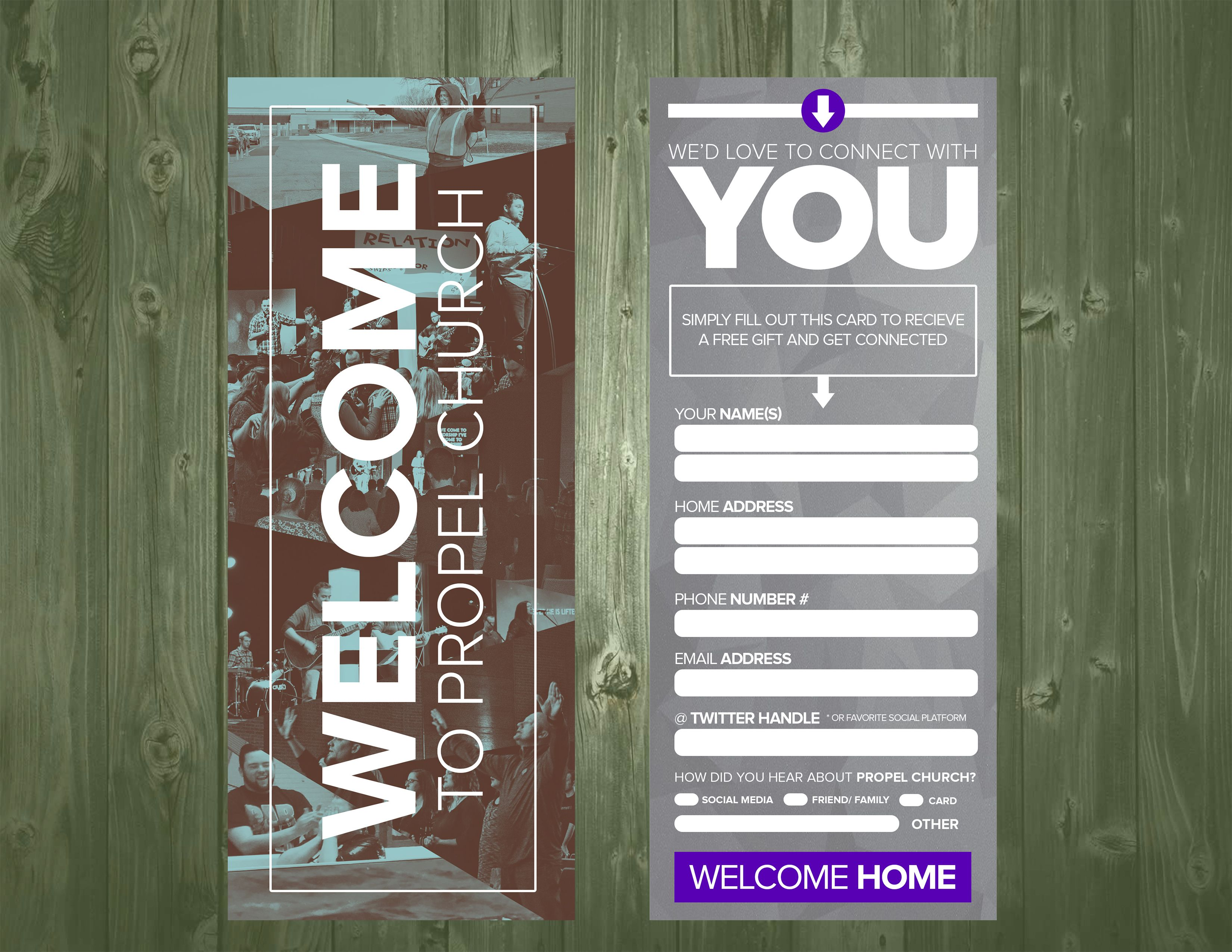 359 psd connection card template church visitor ideas church connection card x kristyandbryce Gallery