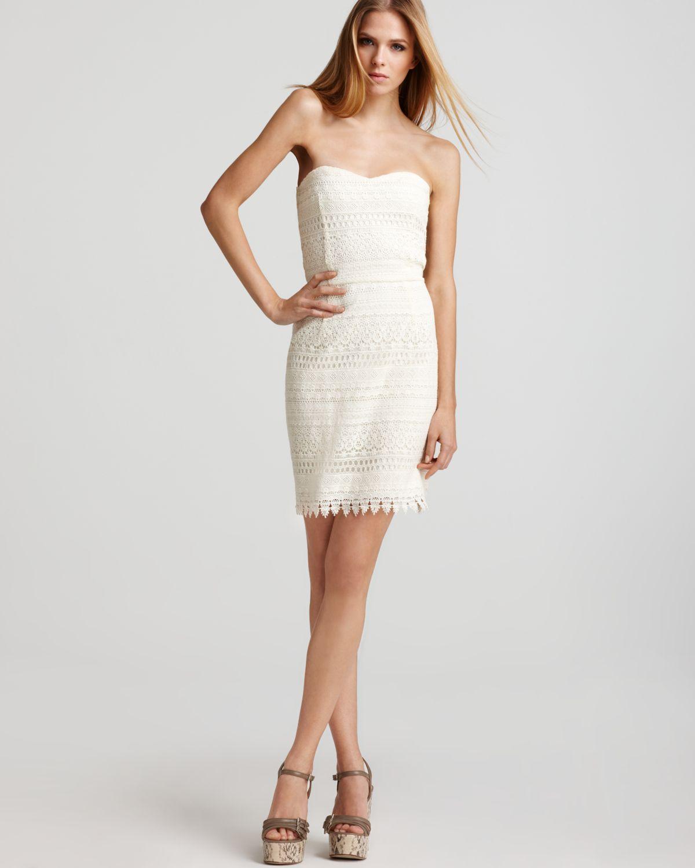 Aqua luxe dress crochet strapless price dresses