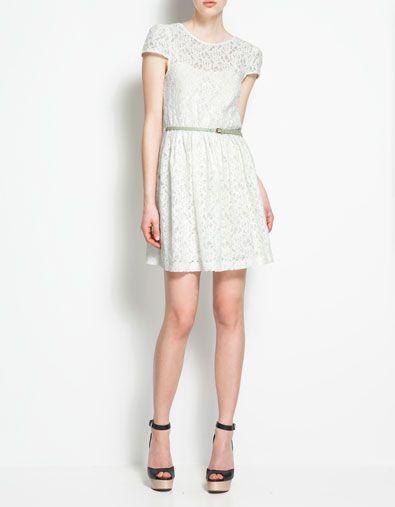 Vestido blanco espalda cruzada zara