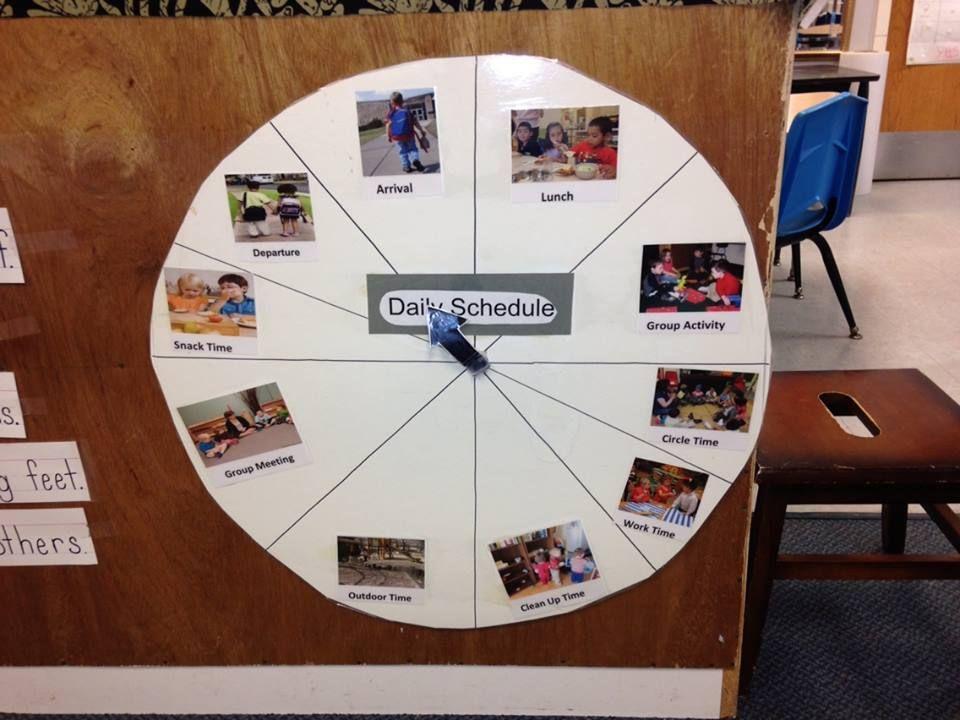 Daily Schedule Wheel New classroom, Conscious discipline