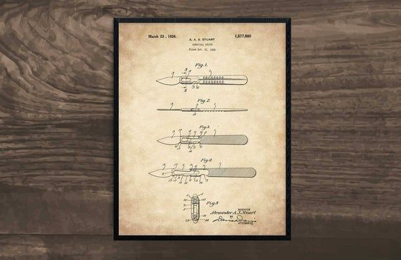 Surgical Knife, doctor gift, medical student gift, medical art, medical print, doctor office decor, #doctoroffice