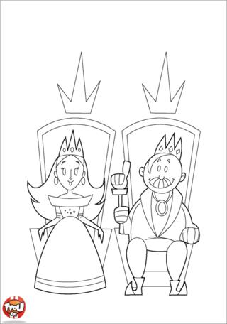 Roi Et Reine Coloriages Monde Magique Tfou Coloriage Roi Reine