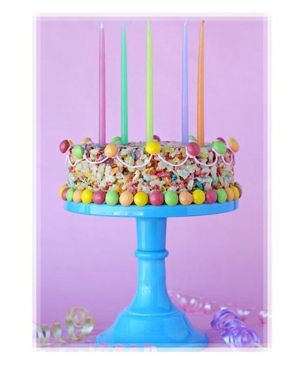 Creative Fun Rice Krispies Birthday Cake Birthday Cakes