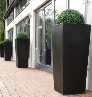 Tall Outdoor Planters Fibreglass Planters Tapered Terrazzo