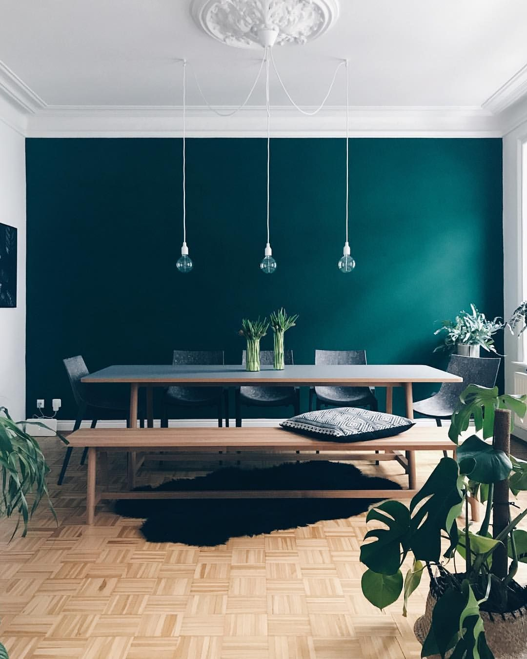 Grun Grun Grun Ist Alles Was Ich Habe Auch Wenn Ich Mir Wunschte Mal Wieder Blau Zu Sein Kleinerfreitag Dining Room Design Wood Dining Room Table Decor