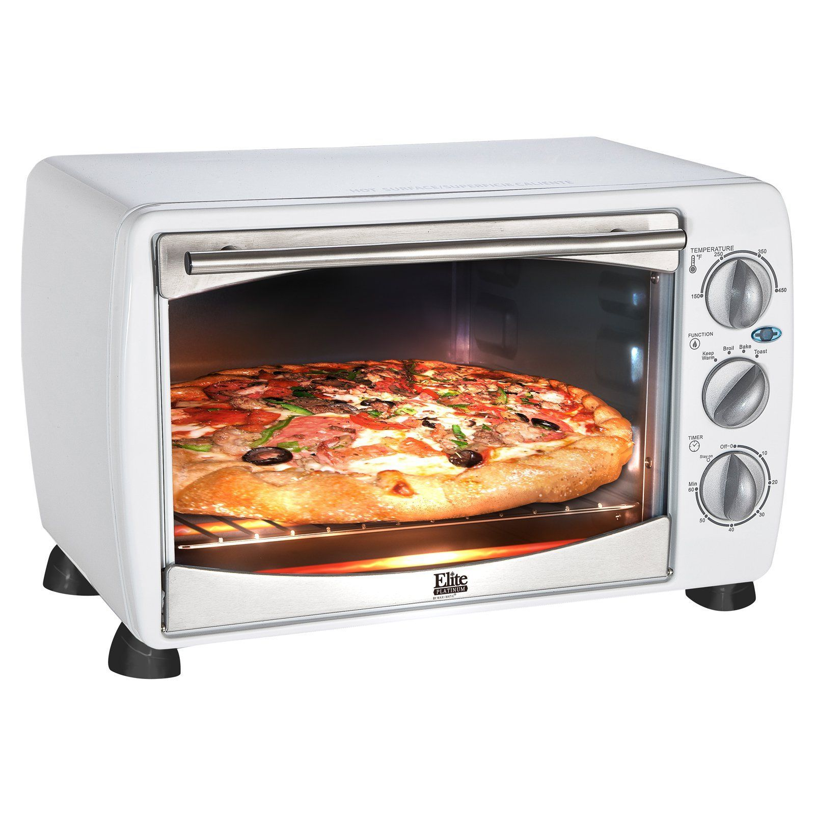 Elite Gourmet Eto 180w 6 Slice Toaster Oven Broiler Www Hayneedle Com Countertop Toaster Oven Toaster Oven Toaster