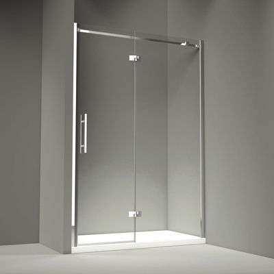 Merlyn Series 9 Hinge Inline Shower Door Recess Enclosure 1100mm A Hugely Practical Yet Stylish Option The Hin Shower Doors Frameless Shower Doors Shower Cabin