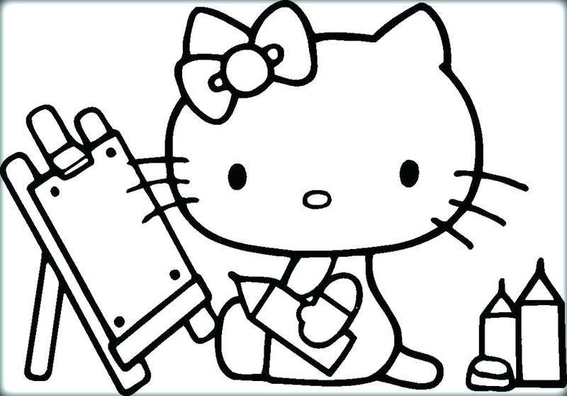 Free Kitty Cat Coloring Pages Hello Kitty is a fictional