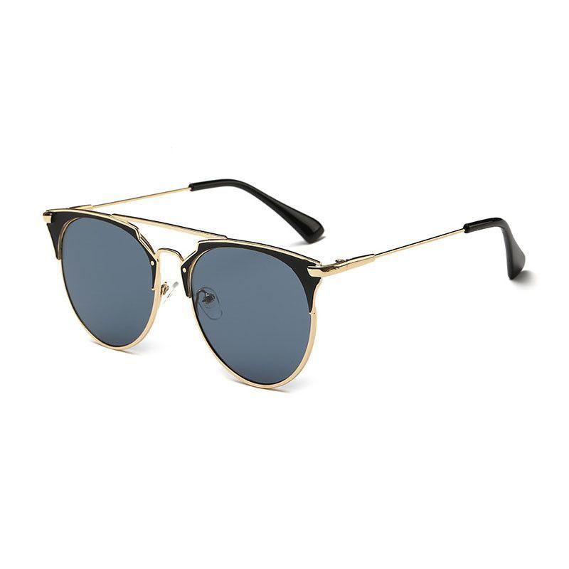 0b7d94539b7eb Fashion Retro Round Cat Eye Sunglasses Men Women Designer Eyewear Metal  Frame UV400 Glasses