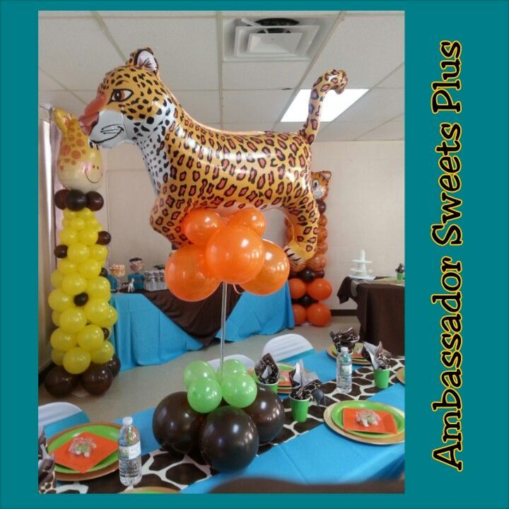 Balloons For Jungle Theme Baby Shower