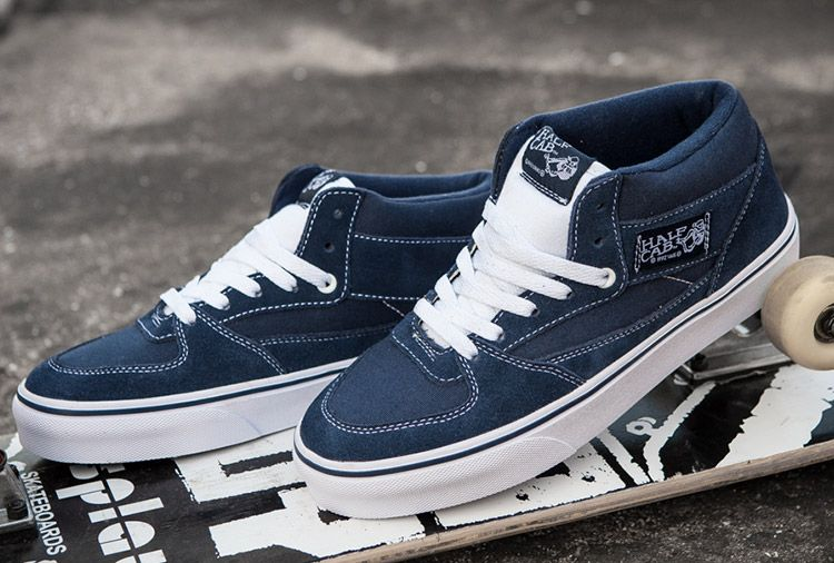 Vans Pro Skate Half Cab Street Knight Navy Blue Skateboard Shoes ... e82770a8c