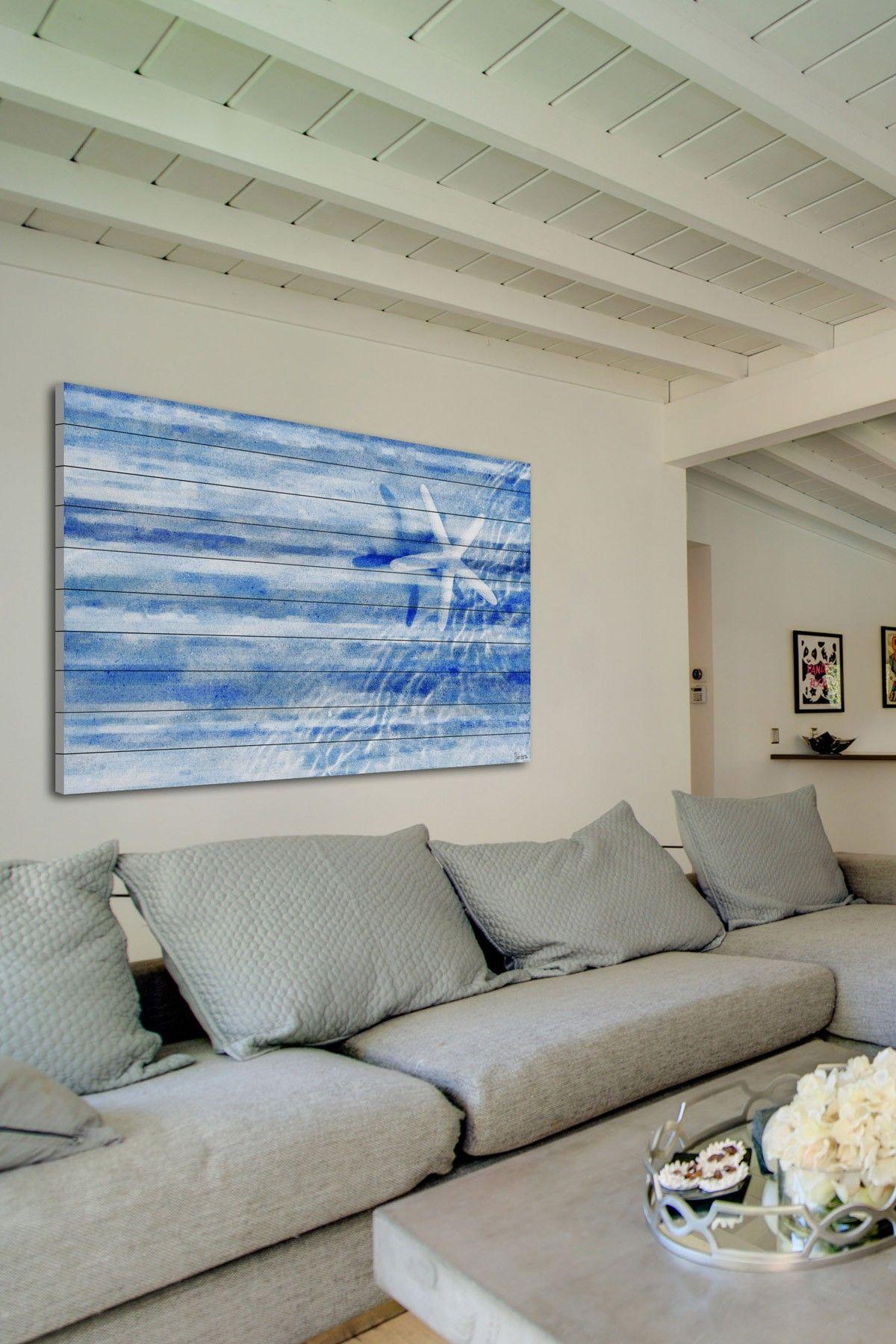 Starfish White Wood Wall Art on HauteLook