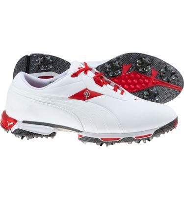 yksityiskohtainen ilme tiedot ilmainen toimitus Puma Mens Zero Limits Ferrari Golf Shoes (White/Rosso Corsa ...