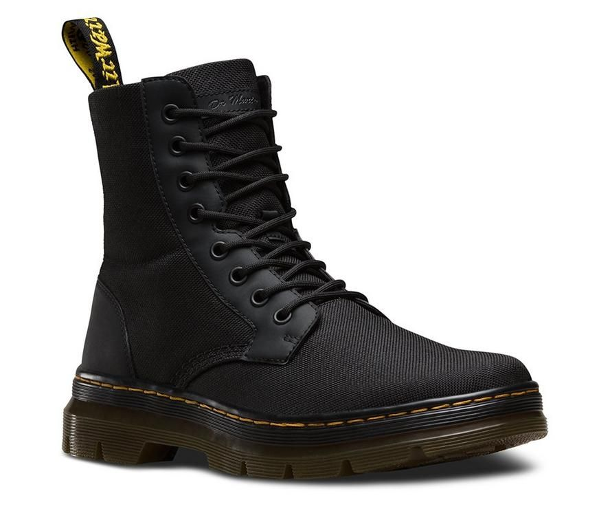 DR MARTENS COMBS UTILITY BOOTS   Black