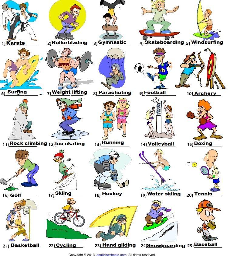 List Of Sports 117