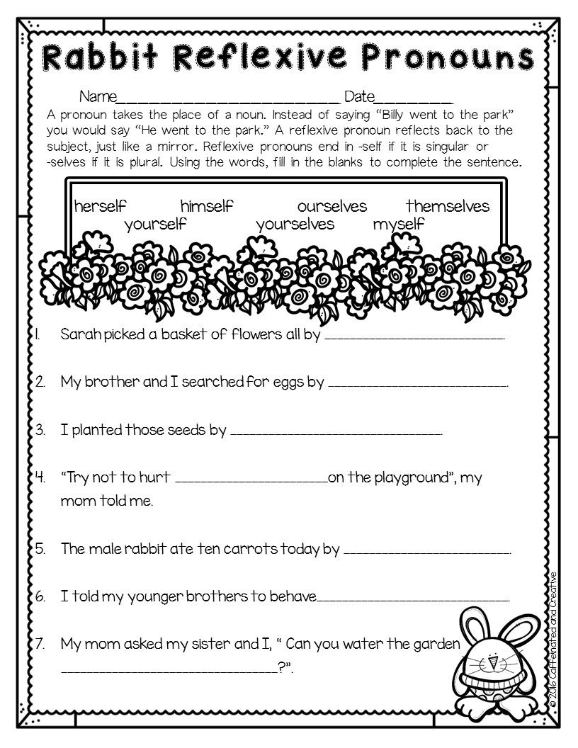 Workbooks reflexive pronoun worksheets for 2nd grade : Spring Into Spring | Literacy, Math and Students