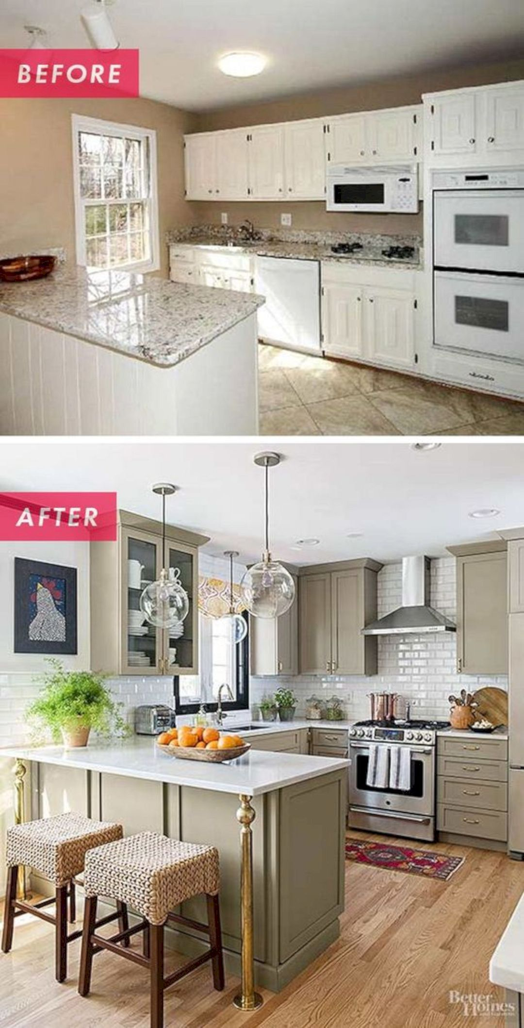 Stunning Before After Diy Kitchen Remodel For Under 500