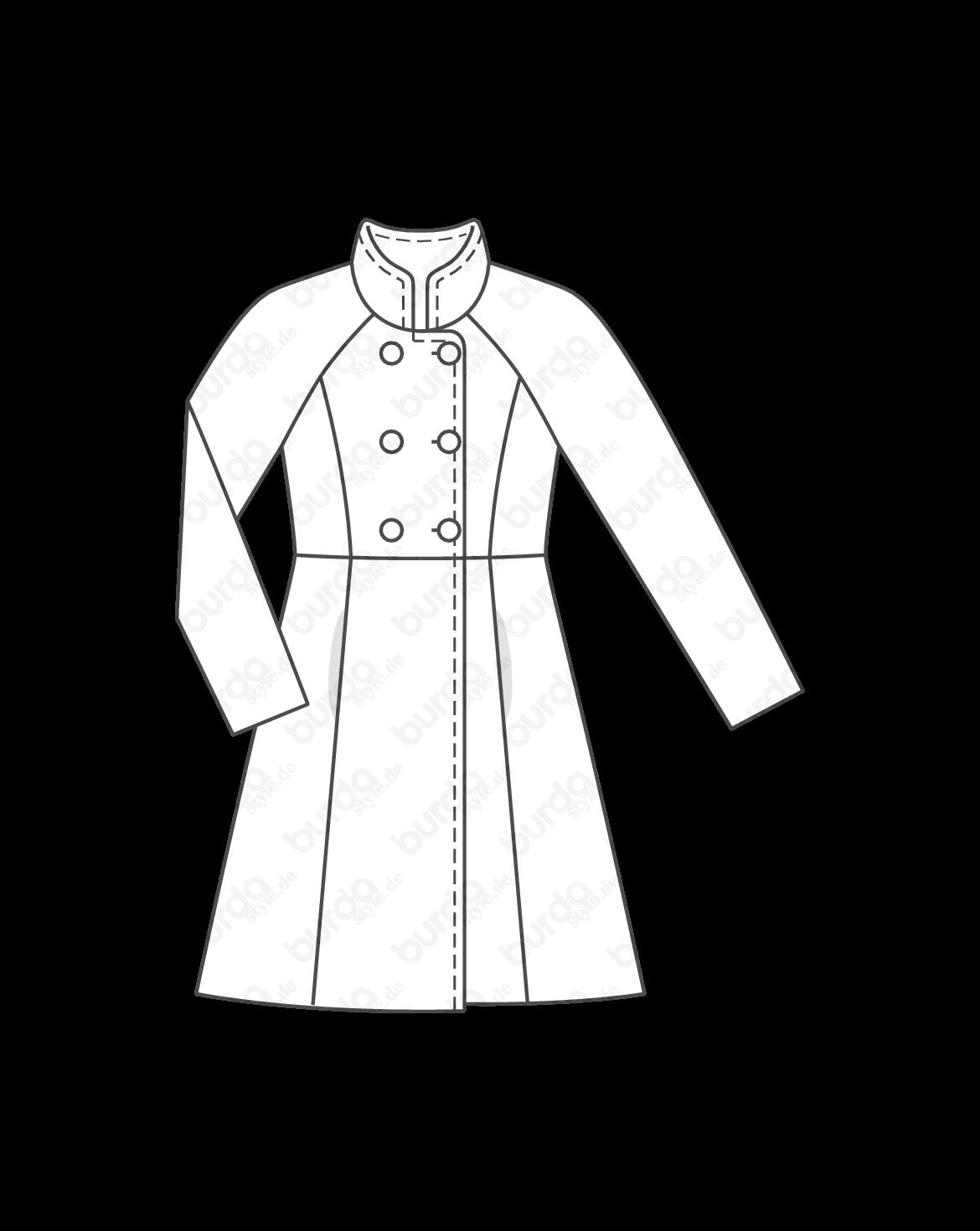 Stehkragen mantel schnittmuster