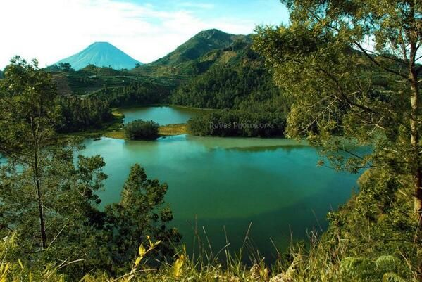 Telaga Warna Dieng Wonosobo Pemandangan Indonesia Warna