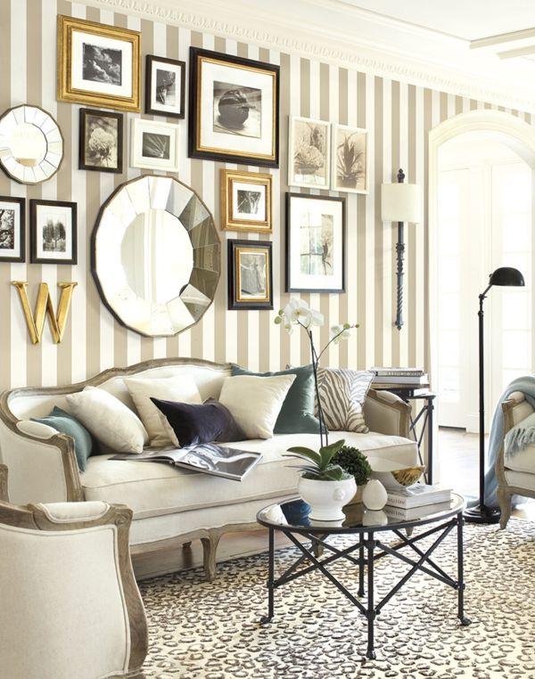 wohnideen dekoideen wohnzimmer design bilder spiegel - wohnzimmer design tapeten