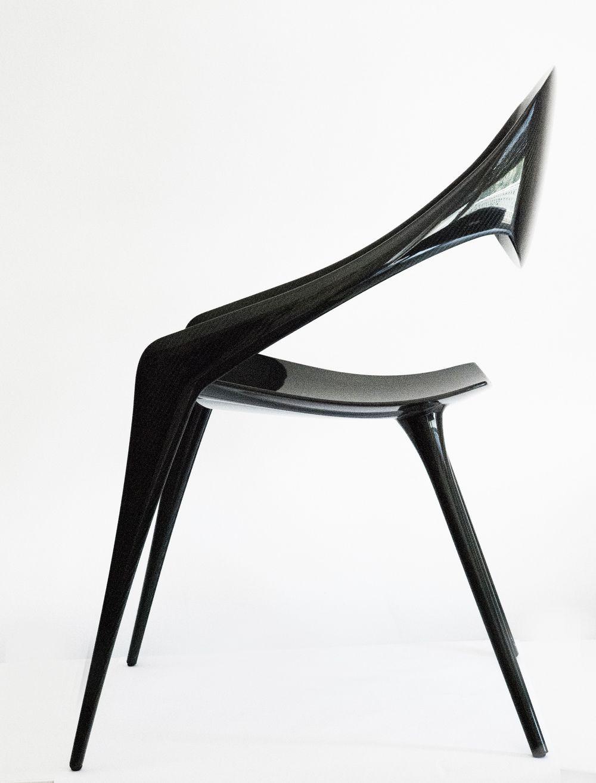 Carbon Fiber Chair Gruppo Reflex Spa Shell Carbon Fiber Chair Design Cesare Monti