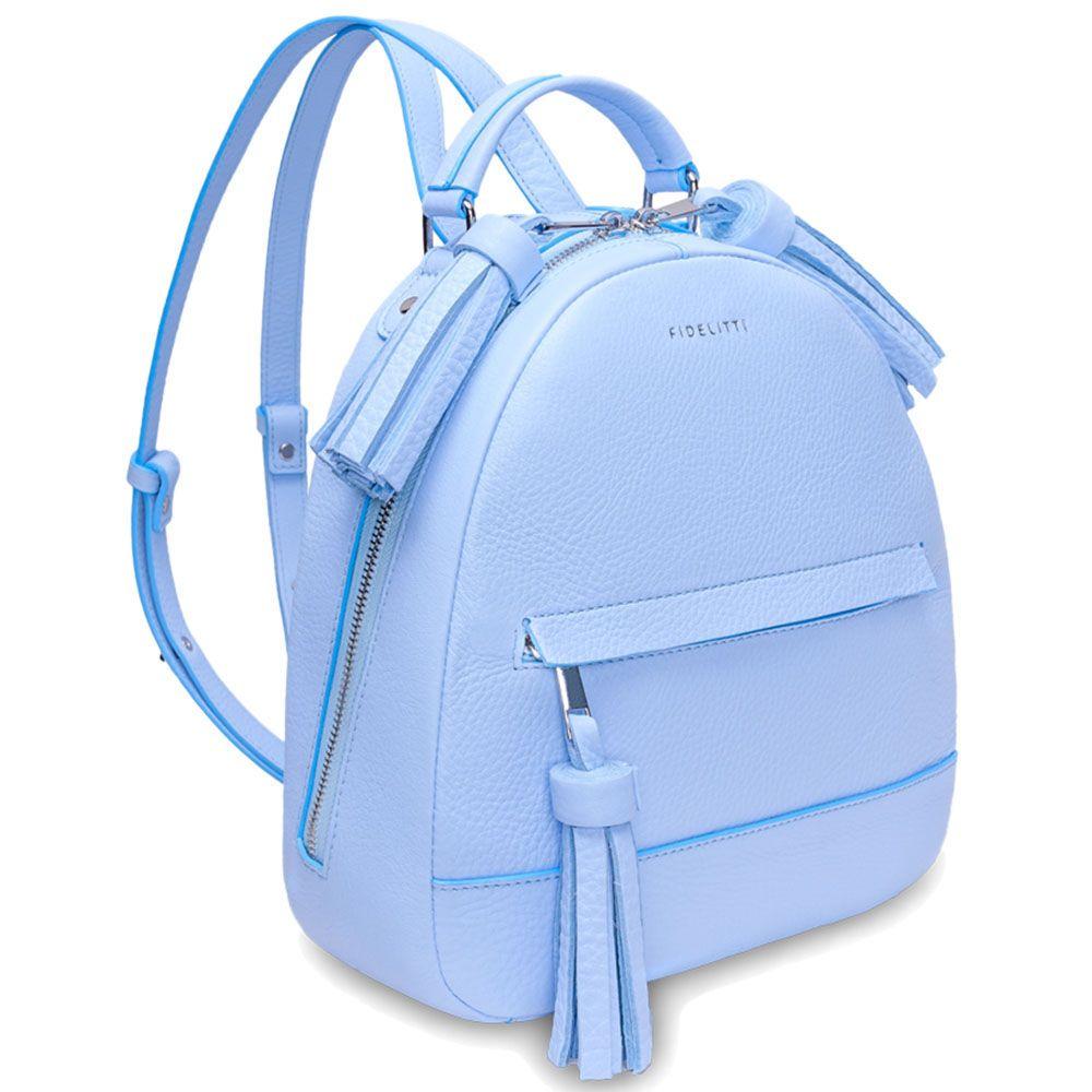 84f2f7dfeae6 Городской рюкзак Fidelitti Zaino светло-голубой с кисточками(027-640-lu) —…