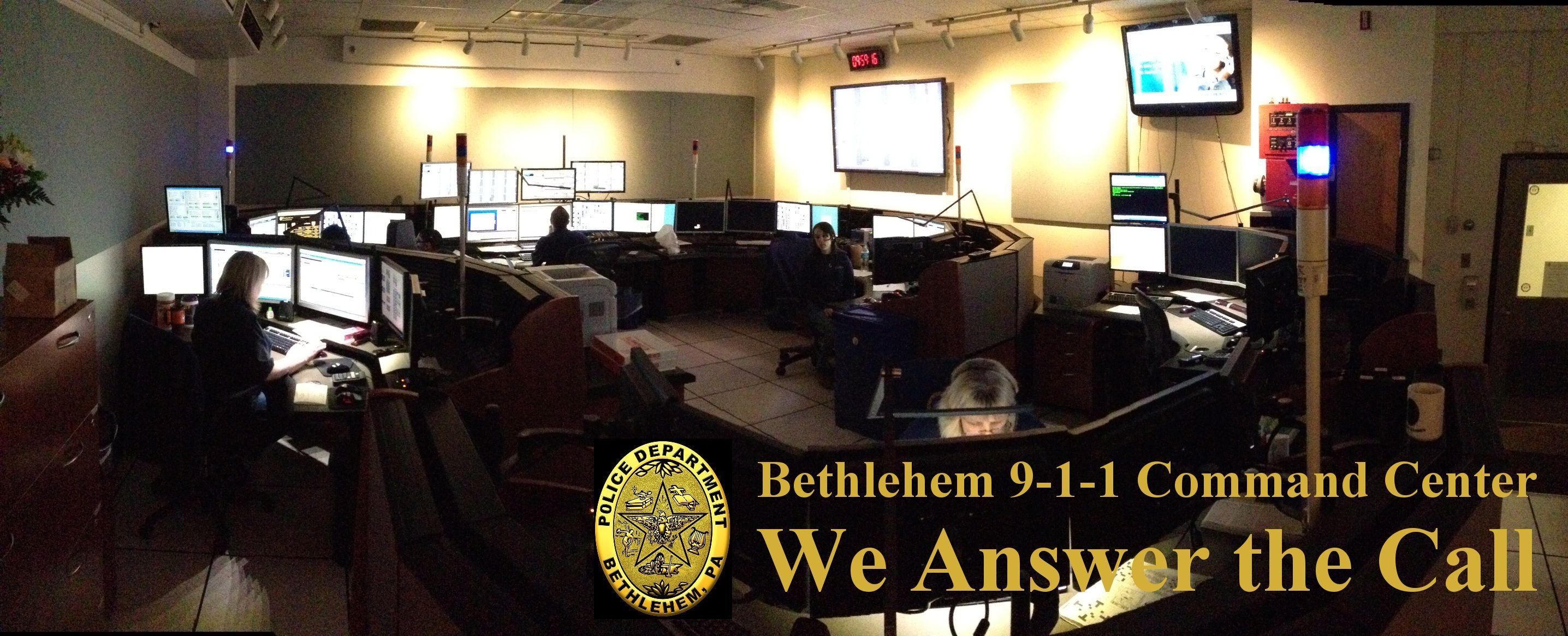 Thank you bethlehem 911 command center command center