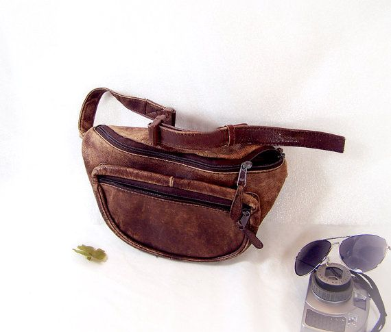 a5c53972197 Distressed Leather Waist Pouch Vintage Fanny Pack by TheWhitePelican ...