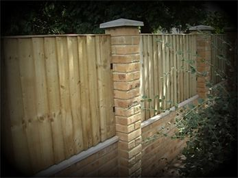 Wall With Fence Panels Google Search Fencing