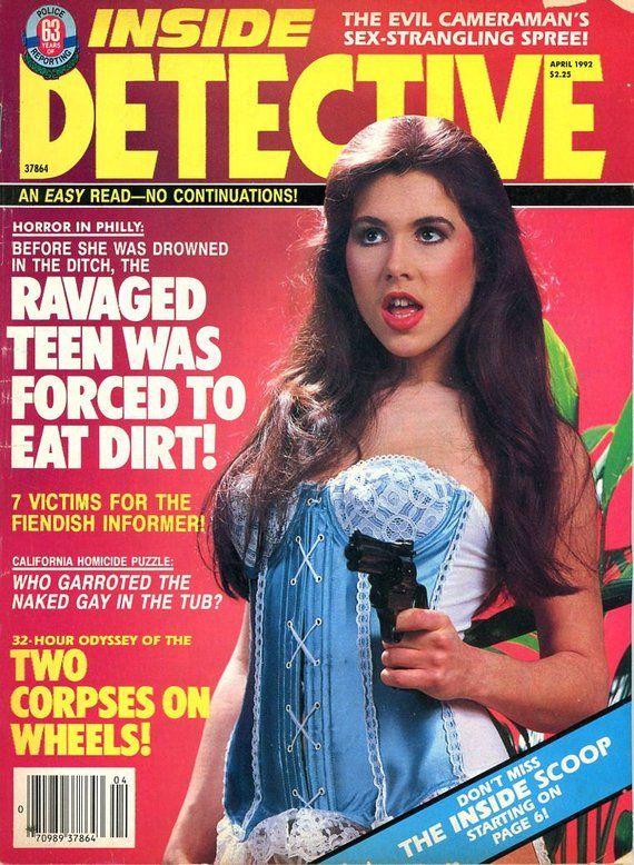 Inside Detective Magazine 1992 Etsy in 2020 Detective