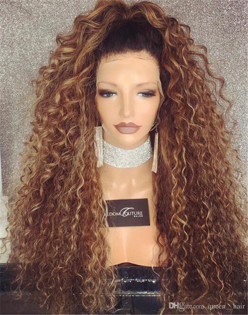 6301a8fd2 (sh00188) باروكة اومبر شعر طبيعى برازيلى ذات جذور امامية مثبتة بكلبسات  داخلية الباروكة قابلة