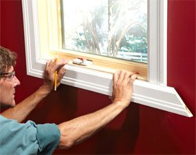 How To Install Window Trim With Images Interior Window Trim Window Trim White Window Treatments