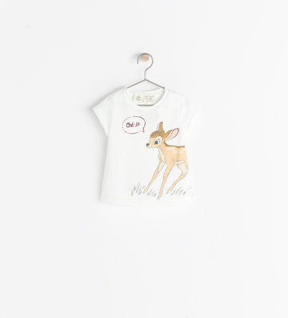 30bbdb21c74c5 Zara Disney Print T-Shirt on shopstyle.com | Bambi | Pinterest