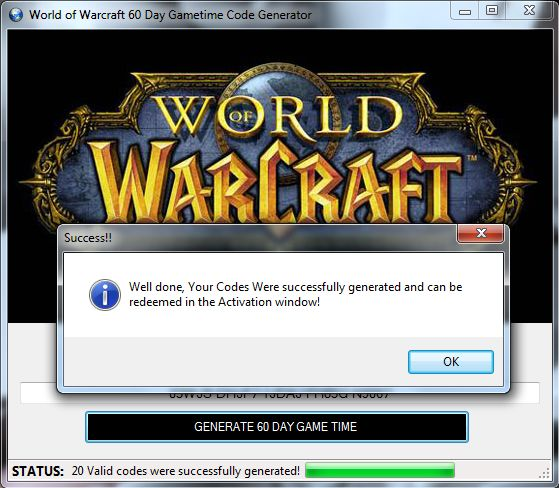 World Of Warcraft 60 Day Game Card Generator2 Free WoW Game