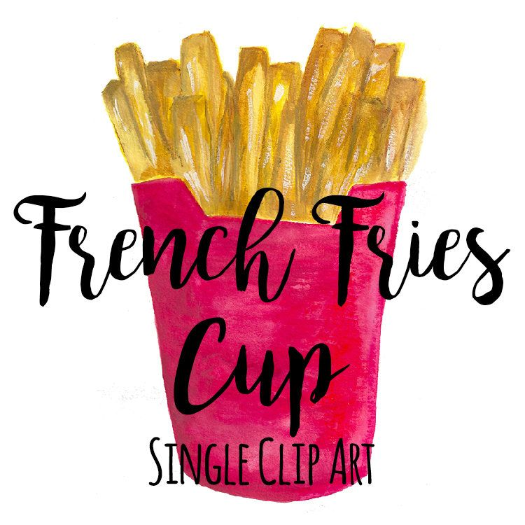 French Fries Png Fast Food Watercolor Clip Art French Fries Etsy Food Clips Clip Art Food Clipart