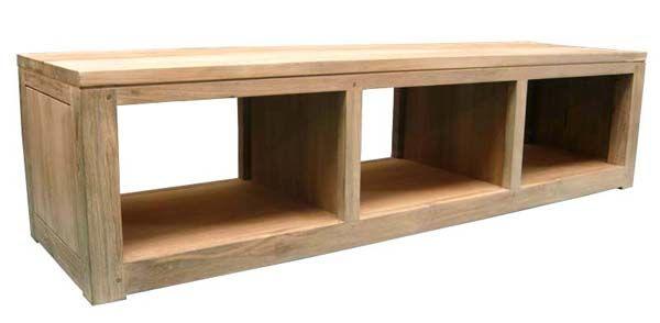 meuble tv en teck recyclé . colection de meubles de télévision en ... - Meuble Bois Brut Design