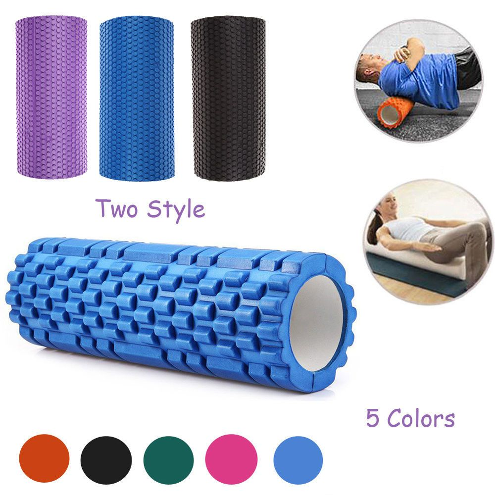 Trigger Point Foam Roller Muscle Tissue Massage Fitness Gym Yoga Pilates Sports Muscle Roller Gym Workouts No Equipment Workout
