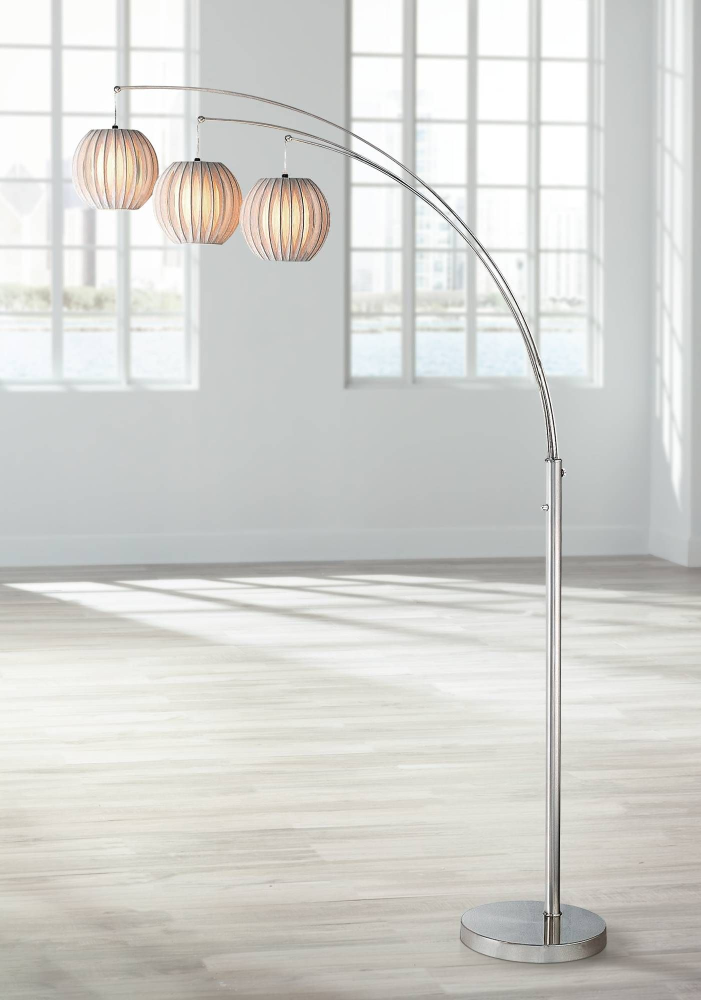 Lite source deion 3 light hanging arc floor lamp light up my life lite source deion 3 light hanging arc floor lamp n1912 lamps plus aloadofball Gallery