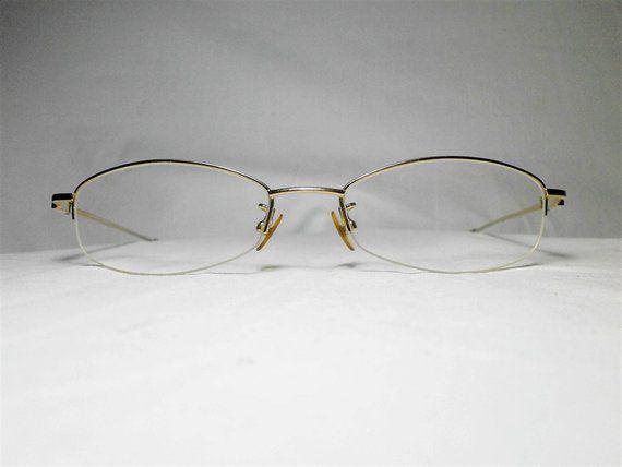 7251113840d6 Valentino Rudy Italy, gold plated Titanium half rim, oval, women's  eyeglasses, frames, vintage