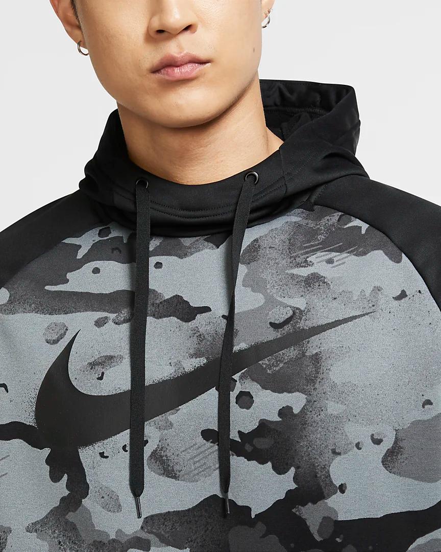 Nike Therma Men S Pullover Camo Training Hoodie Nike Com Pullover Men Hoodies Vintage Men [ 1080 x 864 Pixel ]
