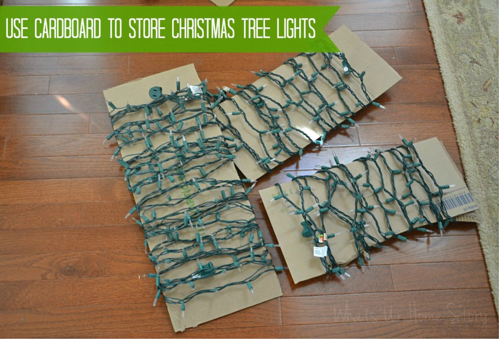 How To Avoid The Knotted Mess Of Storing Those Christmas String Lights,  Using Household Items