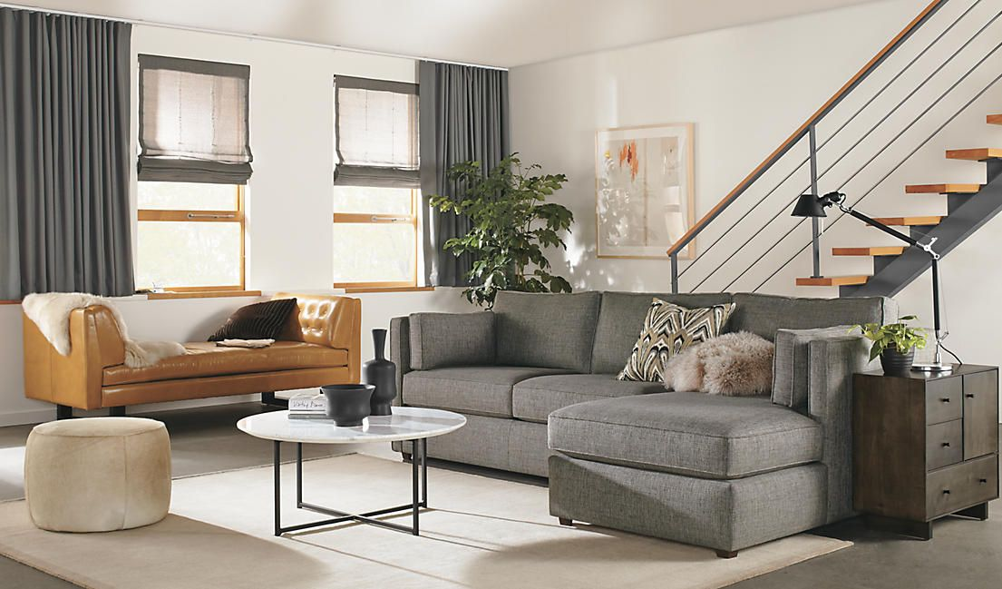 Watson chaise in gray - room and board