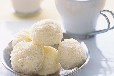 Coconut Truffles  Source: Olivia Scott  Ingredients: 1 1/2 cups shredded coconut  2 teaspoons melted coconut oil 2 tablespoons rice malt syrup or honey 2 tablespoons coconut milk 1/2 teaspoon vanilla extract 1/2 teaspoon cinnamon