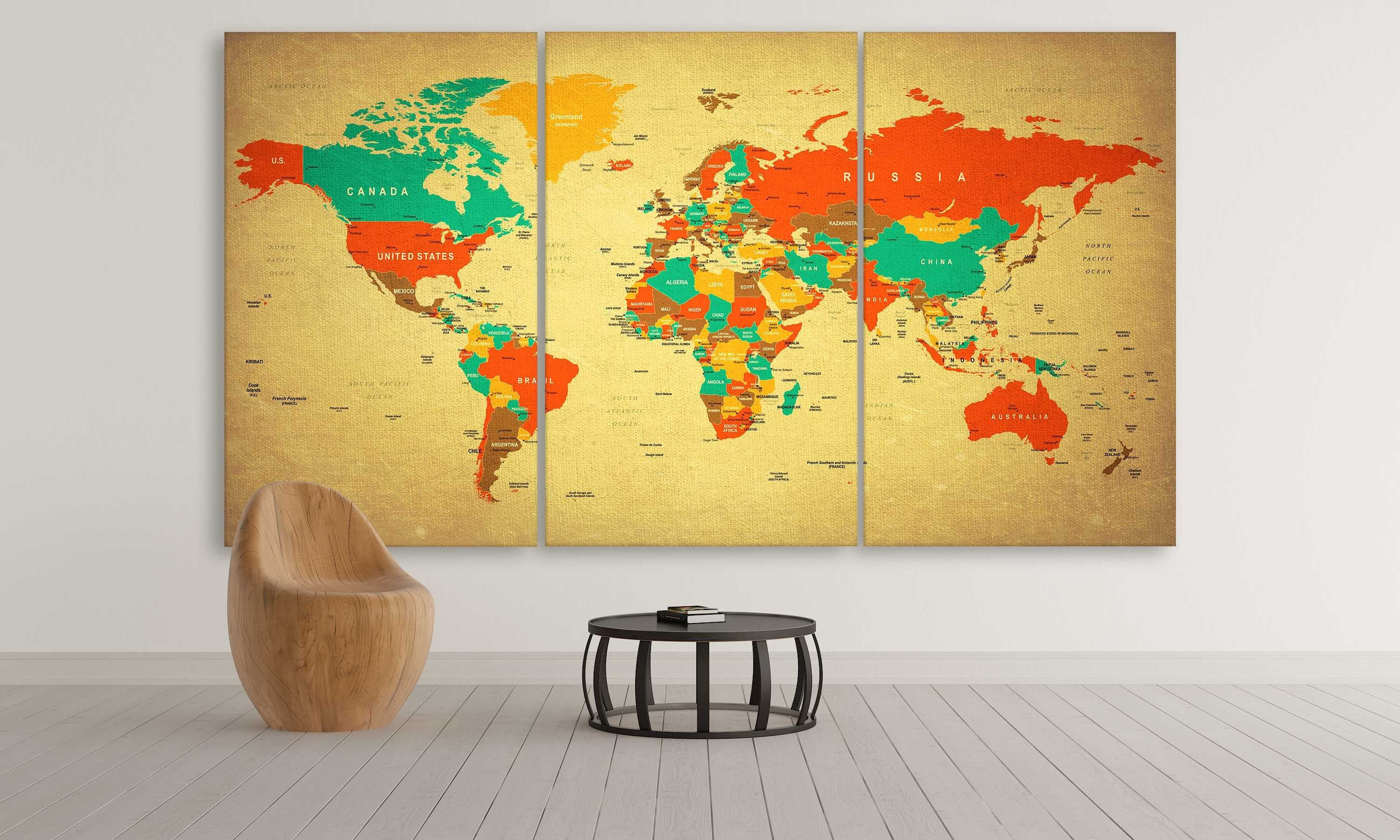 Retro Brown World Map | Products