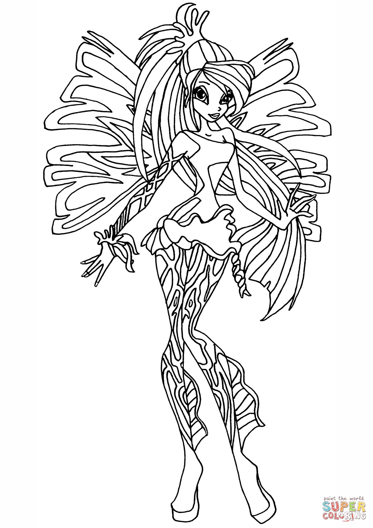 Winx Coloring Pages With Winx Club Sirenix Bloom Page Coloring For