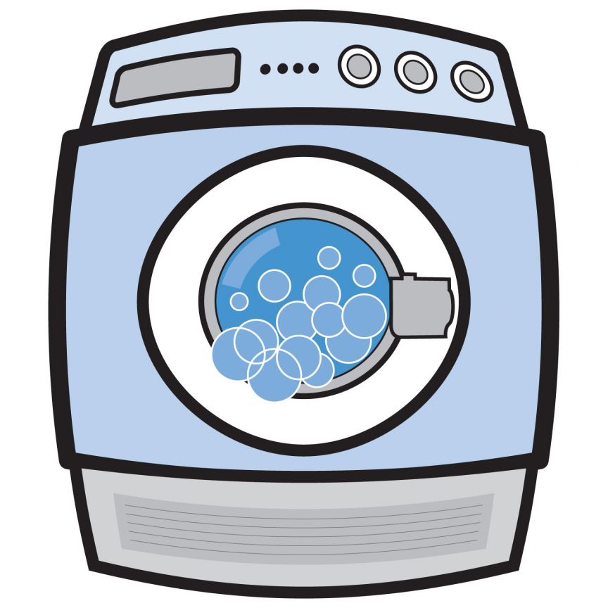 Washing Machine Cartoon Fai Da Te Feltro Fai Da Te