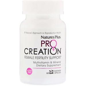 Nature S Plus Procreation Female Fertility Support 60 Vegetarian Capsules Female Fertility Multivitamin Mineral Fertility