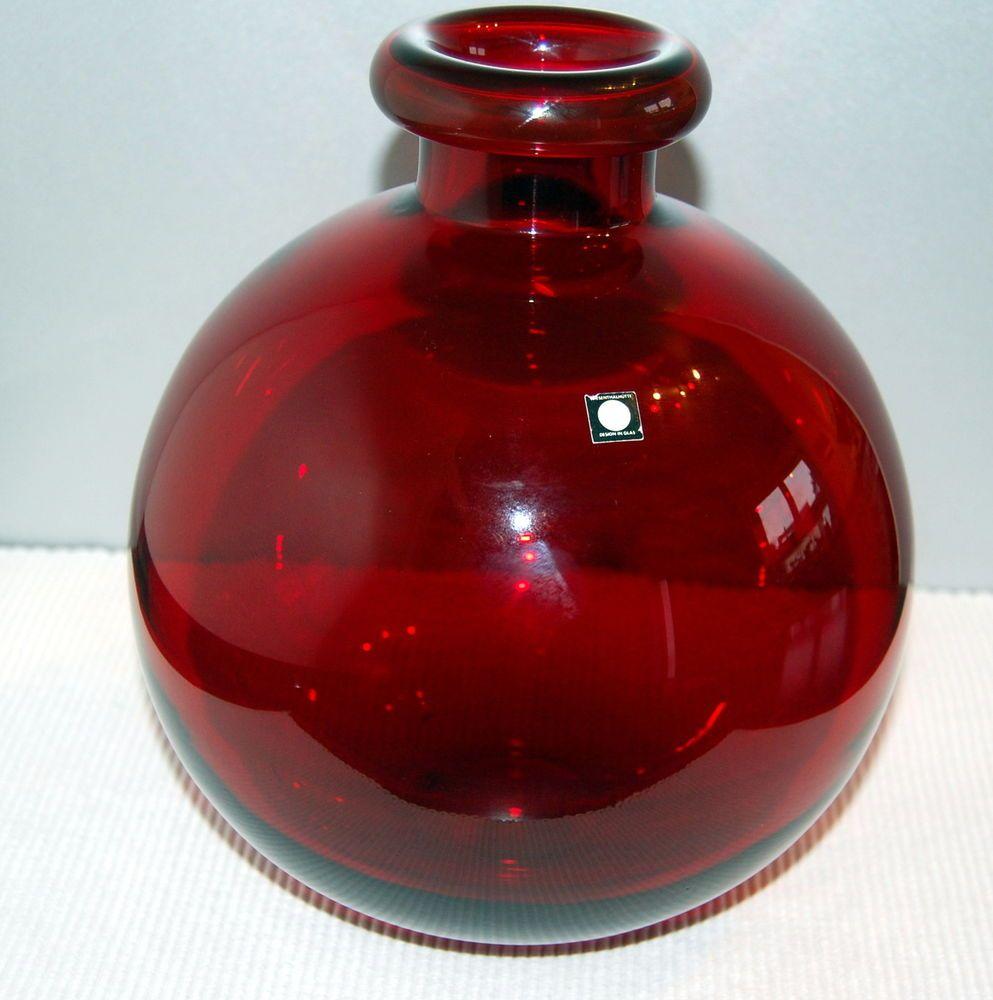 große Vase Kugelvase Wiesenthalhütte rot